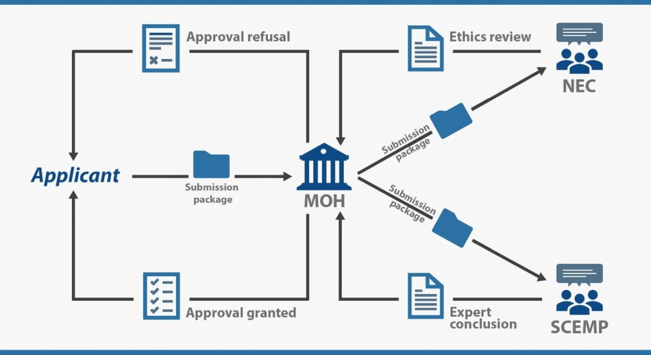 The regulatory process for obtaining clinical trial authorization