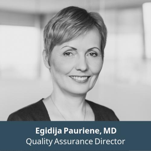 Egidija Pauriene, MD, Quality Assurance Director