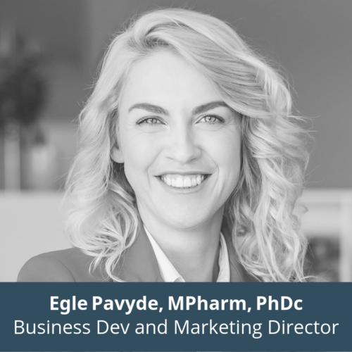Egle Pavyde, Mpharm, PhDc, Business Development and Marketing Director