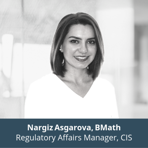 Nargiz Asgarova, Bmath, Regulatory Affairs Manager, CIS