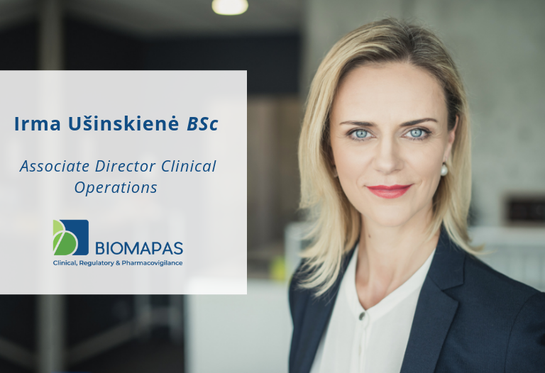 Irma Ušinskienė, BSc, Associate Director Clinical Operations, Biomapas