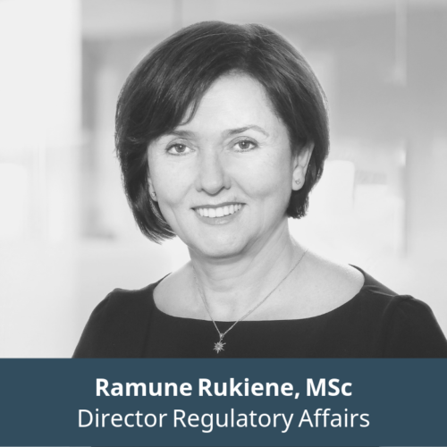 Ramunė Rūkienė, Director Regulatory Affairs