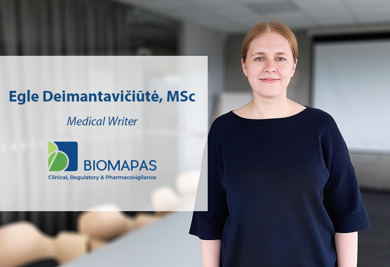 Eglė Deimantavičiūtė, MSc, Medical Writer, Biomapas